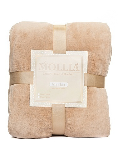 Mollia Soft Touch Çift Kişilik Battaniye Bej